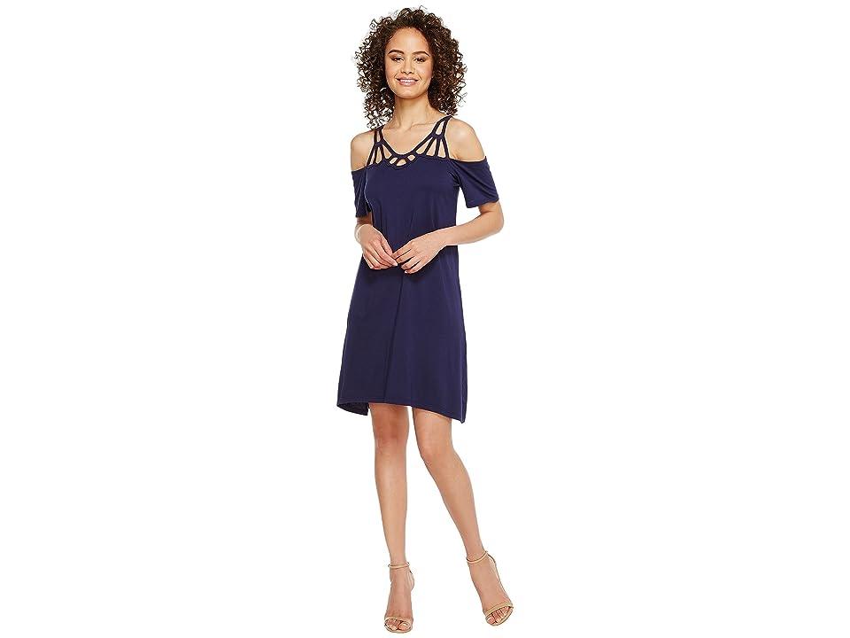 Michael Stars Scoop Neck Goddess Dress (Nocturnal) Women