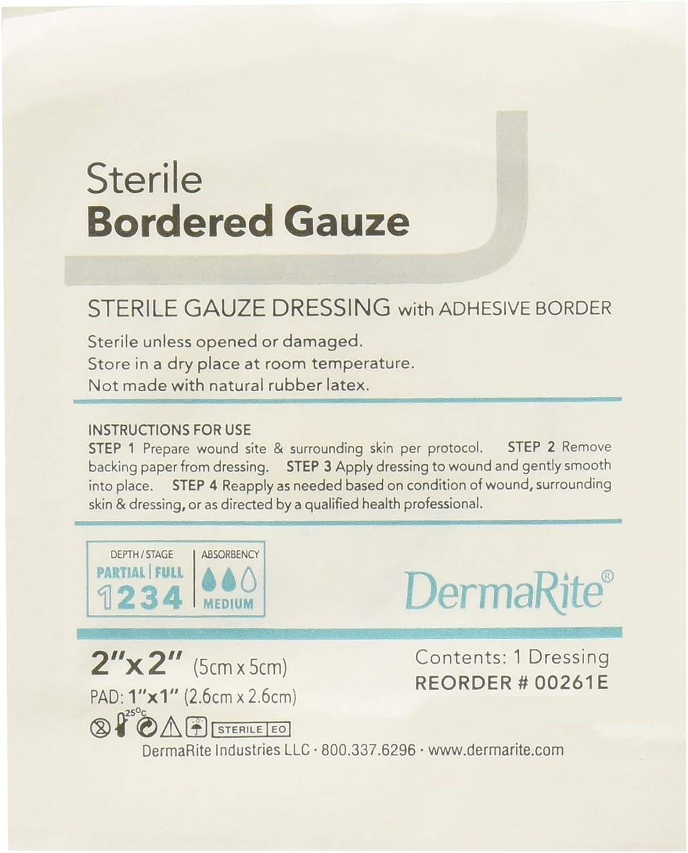 Dermarite Industries Sterile Bordered Gauze Dressing, 2x2, 50 Co