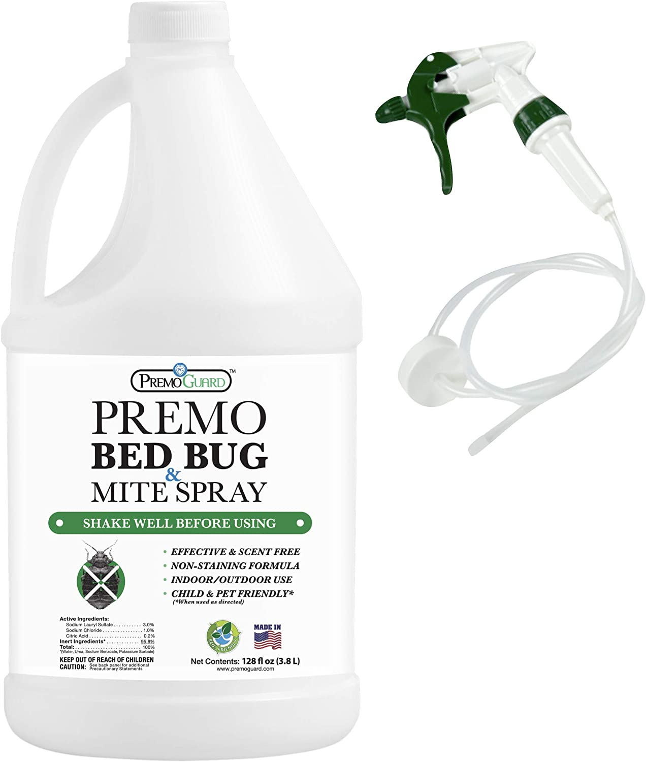 Bed Bug Mite Killer Spray By Premo 128 Acting Fast 低価格化 期間限定送料無料 oz – Guard