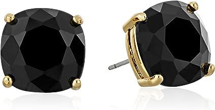 black crystal earrings studs