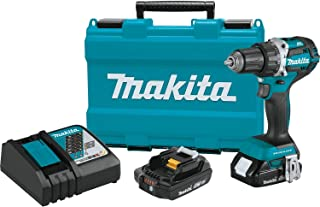 """Makita XFD12R 18V LXT Lithium-Ion Compact Brushless Cordless 1/2"""" Driver-Drill Kit (2.0Ah)"""