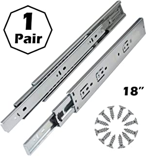 Gobrico Hardware 18-inch 100 lb. Hydraulic Soft Self Close Full Extension Ball Bearing Drawer Slides 3Folds 1Pair