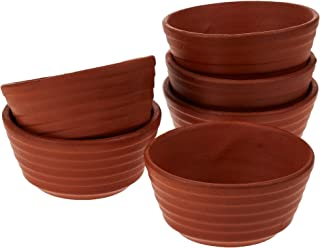 Harmony 2724623304885 Earthen Linear Bowl Set of 6 - 200 Ml, Brown