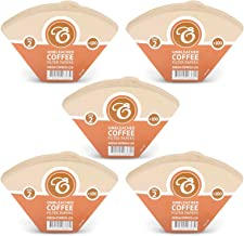 500 Size 2 Coffee Filter Paper Cones, Unbleached by EDESIA ESPRESS