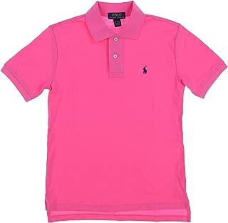 POLO RALPH LAUREN Boys Classic Fit Mesh Polo Shirt (Pink, Large (14-16))