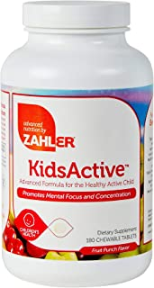 Zahler KidsActive, Kids Chewable Concentration Formula, All Natural Children's Supplement Supporting Focus and Attention, ...