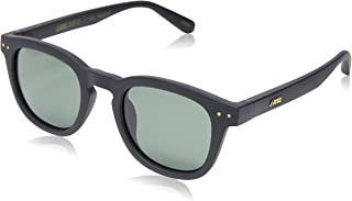 Local Supply Men's AVENUE Polarized Sunglasses - Dark Green Tint Lens, Matte Black Frames