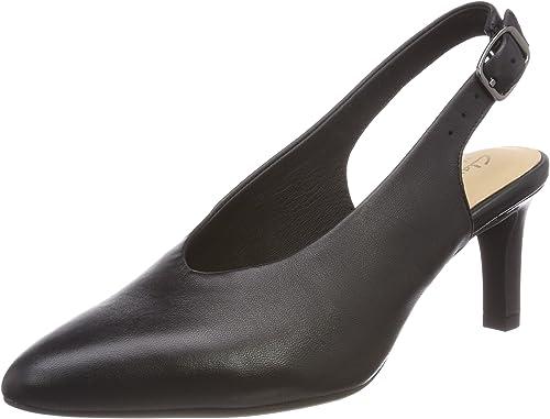 Clarks Calla púrpura, zapatos de Talón Abierto para mujer