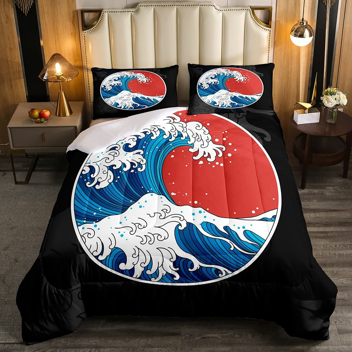 Manfei Sea Wave Free shipping anywhere in the Financial sales sale nation Comforter Set Full Japanese Ins Duvet Style Size