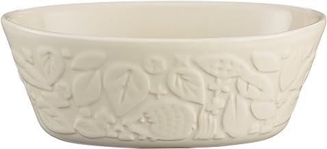 Mason Cash 2001.937 in The Forest Hedgehog Stoneware Oval Pie Dish, 18x 12x 6.5cms, Cream 28461