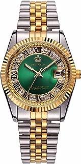 Carlien Silver & Gold Stainless Steel Strap Waterproof Quartz Calendar Fashion Luxury Women's Watch