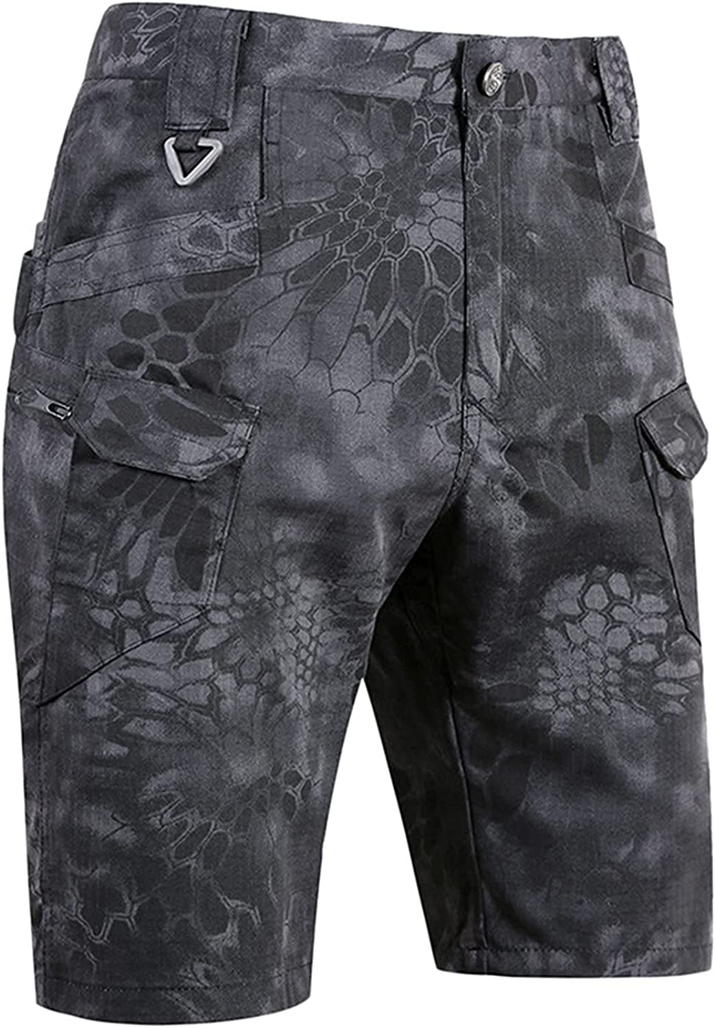 VAIFTILNO Mens Camo Cargo Shorts Pants Relaxed Fit Summer Loose Pants Peinted Shorts Trousers Breathable Comfy Short Trousers