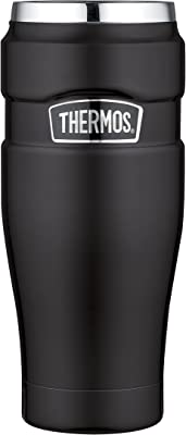 Thermos 125140Black Stainless Steel King Tumbler Mug 16oz
