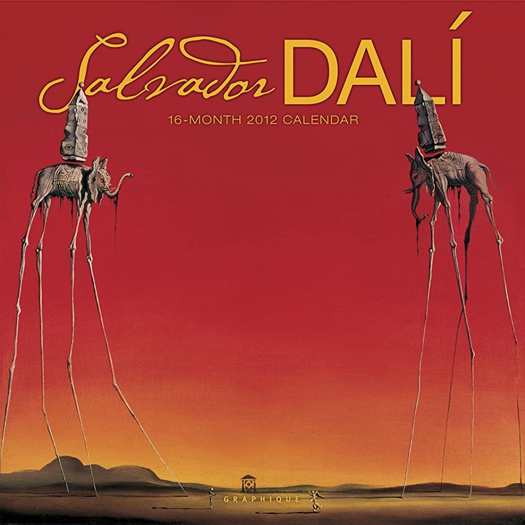 神学校多様体埋める2012 Dali Wall Calendar
