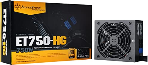 SilverStone Technology 750 Watt Semi-Modular 80 Plus Gold Computer Power Supply PSU ET750-HG