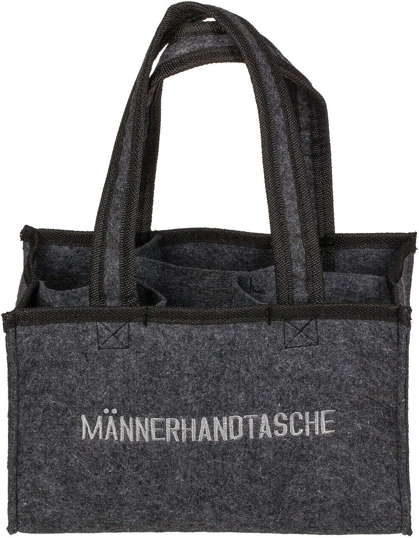 Out of the Blue 713163 – Männerhandtasche aus Filz mit 6 Fächern, ca. 24 x 15 cm