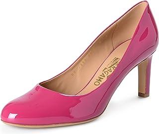 SALVATORE FERRAGAMO Women's Leo Sangria Patent Leather High Heel Pumps Shoes Sz US 9.5C IT 39.5C