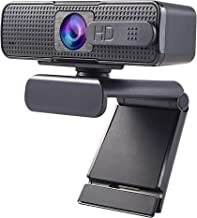 Allinko 880 Auto Focus Webcam 1080P with Privacy Cover, Noise Cancelling Mic, Web Camera with Cover Wide Screen Video Calling Recording Streaming, Skype Web Cam for Mac OS X Win 10 8 7