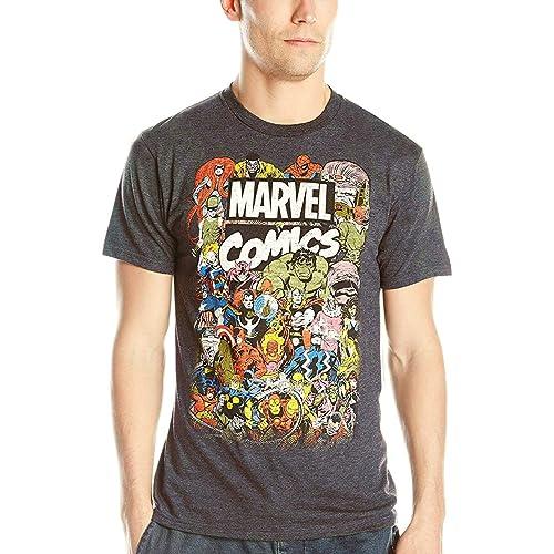 Avengers Boys Superhero Group Shot Comic Book Cover T-Shirt