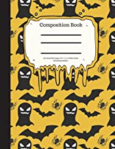 Composition Book 100 Sheet/200 Pages 8.5 X 11 In.-Wide Ruled- Ghosts/Bats/Spider: Halloween Notebook for Kids - Student Jo...