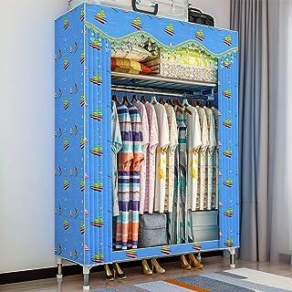 Armoire pliante en toile en tissu, armoire de rangement simple en toile double, installation pratique, économiser de l'esp...