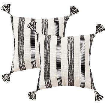 tree design decorative pillows for living room home goods.htm amazon com tiffasea farmhouse square throw pillow cover  black  farmhouse square throw pillow cover