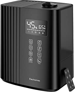 Elechomes SH8830 Humidifier, 6.5L(1.72Gal) Top Fill Warm and Cool Mist Humidifiers for Bedroom with Remote Control, 700 ml/h Max, Auto & Sleep Mode, 360° Nozzle, Auto Shut-Off, Black