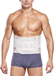 AIEOE Men Waist Cincher Trimmer Trainer Belt Breathable Back Brace Belly Wrap