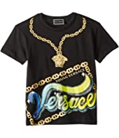 Versace Kids - Short Sleeve Medusa Necklace Graphic T-Shirt (Toddler/Little Kids)
