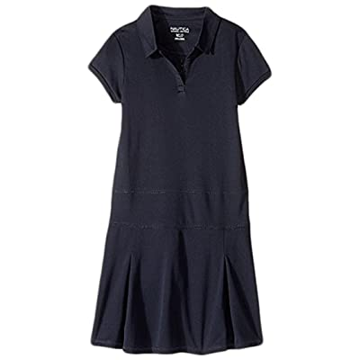 Nautica Kids Girls Plus Short Sleeve Performance Dress (Big Kids) (Su Navy) Girl