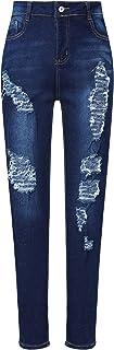 Women's Pierced Boyfriend Jeans Cute Pierced Jeans...