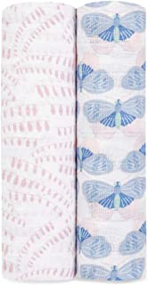 Aden + Anais Swaddle Blanket   Boutique 100% Muslin Blankets for Girls & Boys   Baby Receiving Swaddles   Ideal Newborn Sw...