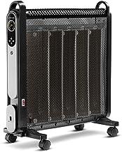 TROTEC Calefactor convector TCH 2050 E, 1.200 W / 2.000 W, Pantalla LCD, Temporizador, Mando a Distancia, Silencioso, Diseño, Ruedas, Placas de Mica, Compacto, Negro, Oficina, Hogar