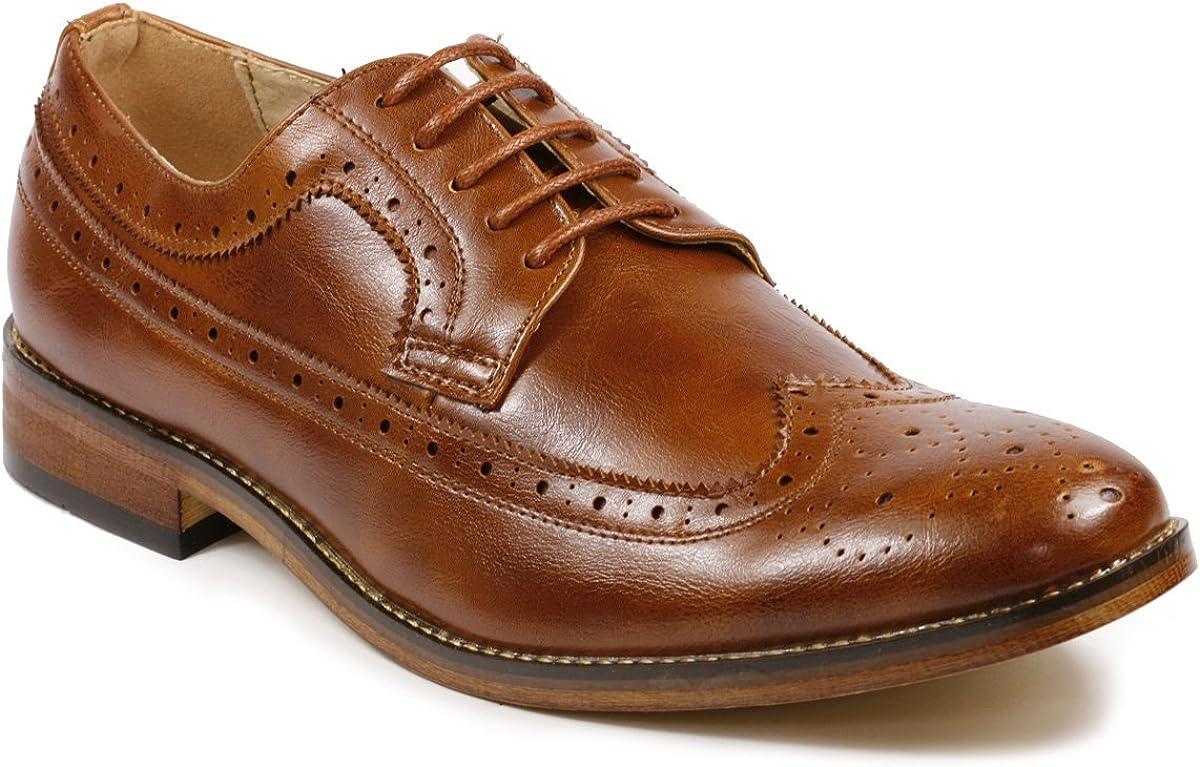 Metrocharm MC108 Men's Wing Tip Lace Up Oxford Dress Shoes
