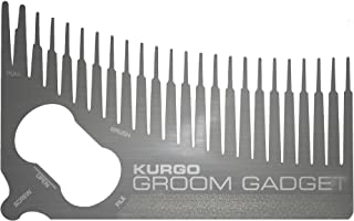 Kurgo Dog 6-in-1 Groomer Comb - Dog Comb, Removes Loose Fur, Tick Tool, Nail File