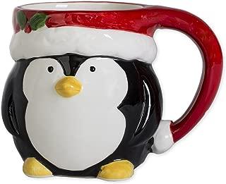 Penguin Holiday Character 12 ounce Ceramic Dolomite Christmas Coffee Mug