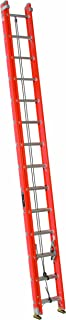 Louisville Ladder FE3228-E03 Fiberglass Extension Ladder with Cable Hook and V-Rung Attached, 28 Feet, 300 Pound Duty Rating