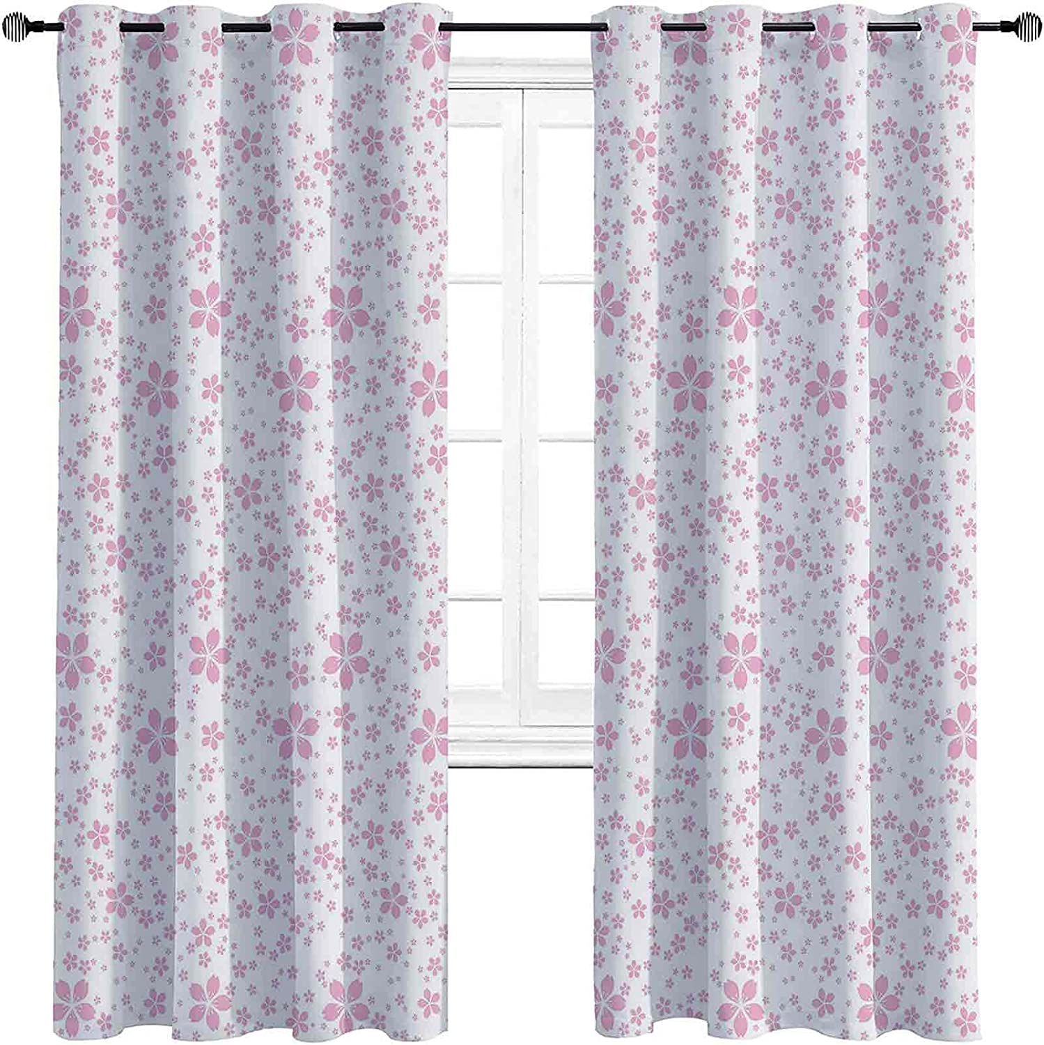 Cherry Blossom 90%-99% Blackout Cash special price Lining Curtain Cute Pi Childish shop