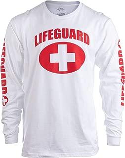 Lifeguard   Red or White Unisex Uniform Costume Long Sleeve T-Shirt Men Women