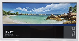 Snap 10x20 White Wood Wall Poster Picture Frame,