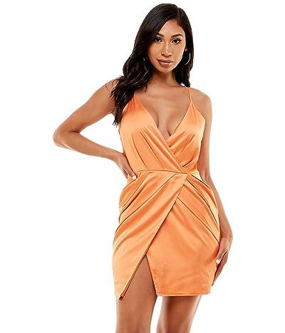Bebe Surplice Satin Mini Dress