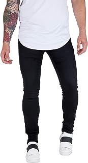 Calça Masculina Skinny Com Elastano bAllAd Preta Lisa