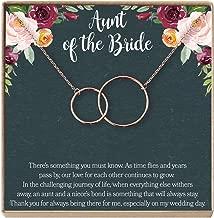 Aunt of The Bride Gift Necklace: Aunt Wedding, Bridal Shower, Rehearsal Dinner, 2 Interlocking Circles