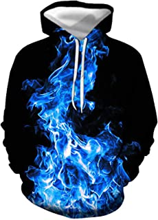 SLYZ European and American Men's Autumn and Winter New Musical Note Casual Hooded 3D Digital Printing Creative Casual Men'...