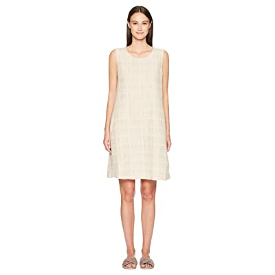 Eileen Fisher Jewel Neck Shift Dress (Natural) Women