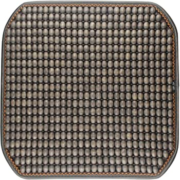 Gray Dr.OX Natural Wood Beaded Seat Cover Massaging Cushion for Car Truck or Your Office Chair