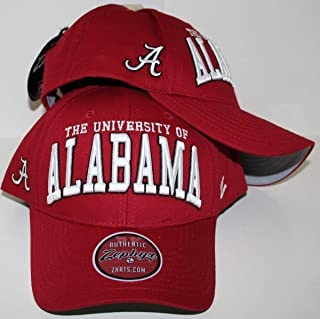 Zephyr University of Alabama Crimson Tide Dark Bama Red Broadcast Top Cotton Mens/Womens Adjustable Baseball Hat/Cap