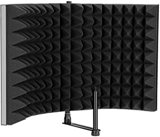 Best AGPTEK Microphone Isolation Shield, Foldable Adjustable Durable Studio Recording Microphone Isolator Panel for Stand Mount or Table Top-Extra Large Size Review