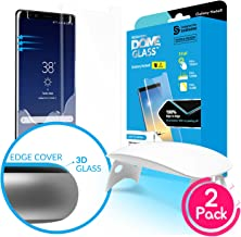 Galaxy Note 8 Screen Protector, [Dome Glass] Full 3D Curved Edge Tempered Glass Shield [Liquid Dispersion Tech] Easy Install Kit by Whitestone for Samsung Galaxy Note 8 (2017) - 2 Pack