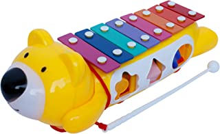 Baby Xylophone Instrument w/ Play Blocks – Pull 'n Play Xylophone Baby Toy – Supports Imaginative Play, Great Toddler Musical Instruments Gift for Kids 3 Year and Older